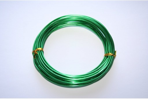 Aluminium Wire 2mm Green - 6m