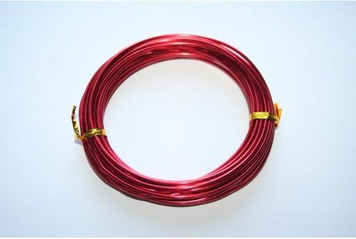 Filo di Alluminio Rosso 2mm - 6mt