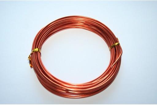 Aluminium Wire 2mm Orange - 6m