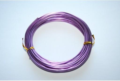 Aluminium Wire 2mm Violet - 6m