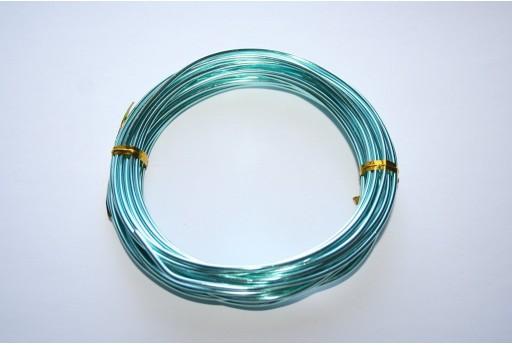 Aluminium Wire 2mm Aquamarine - 6m