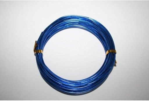 Aluminium Wire 2mm Blue - 6m
