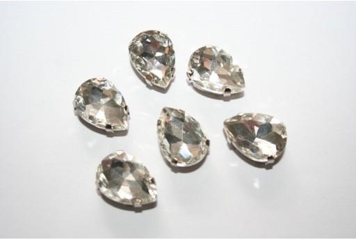 Sew-on Beads Drop Crystal 18x13mm - 2pz