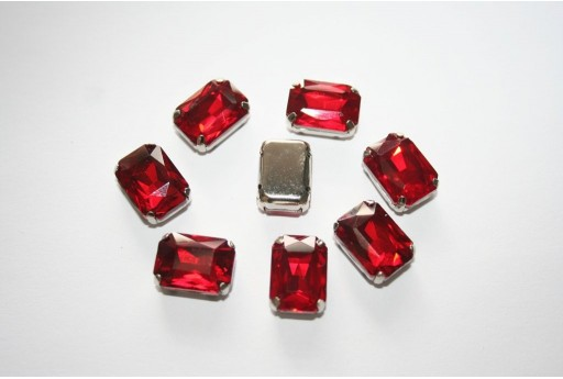 Sew-on Beads Red 14x10mm - 2pz