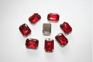 Perline Strass da Cucire Rosso 14x10mm - 2pz