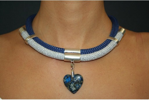 Silver-Blue Climbing Necklace Kit