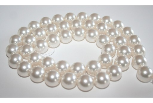 Perle Swarovski 5811 Crystal White 14mm - 2pz
