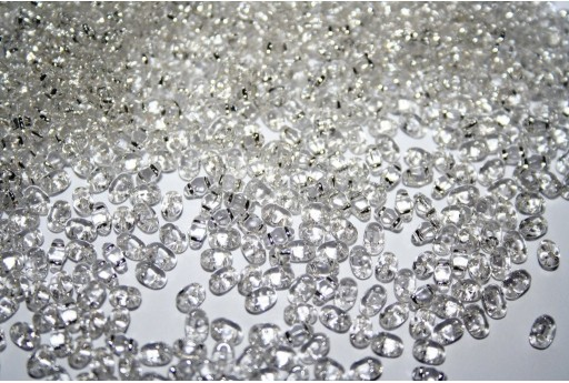 Miniduo Beads Silver Lined-Crystal 4x2,5mm - 10gr