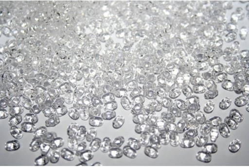 Miniduo Beads Crystal 4x2,5mm - 10gr