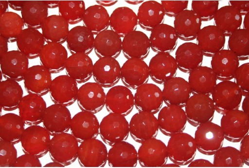 Cornelian Beads Sphere 128 Faces 12mm - 32pz