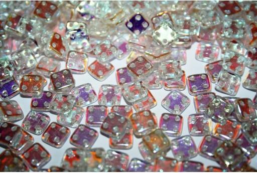 Perline Quadra Tile Crystal AB 6mm - 5gr