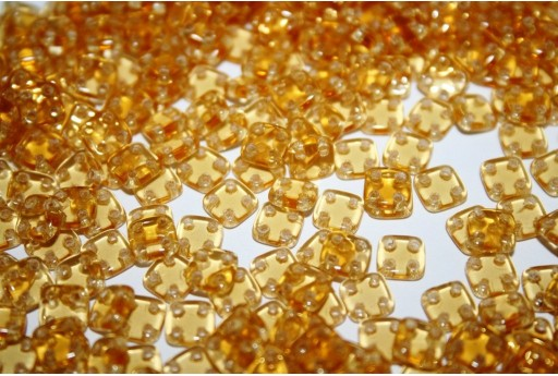 QuadraTile Beads Mid Topaz 6mm - 5gr