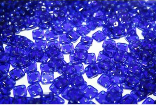 Perline Quadra Tile Cobalt 6mm - 5gr