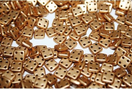 Perline Quadra Tile Matte Metallic Flax 6mm - 5gr