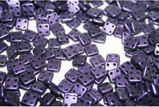 Perline Quadra Tile Metallic Suede-Purple 6mm - 5gr