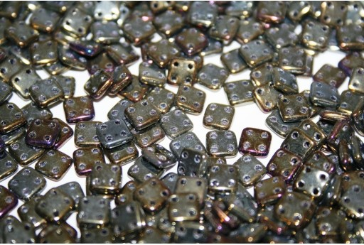 QuadraTile Beads Iris Brown 6mm - 5gr