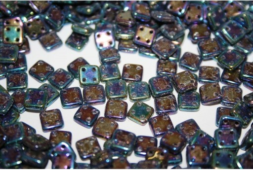 QuadraTile Beads Iris Blue 6mm - 5gr