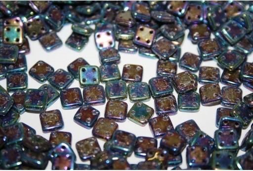 Perline Quadra Tile Iris Blue 6mm - 5gr