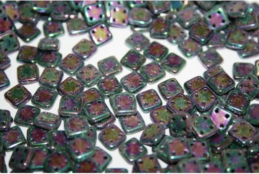 Perline Quadra Tile Iris Purple 6mm - 5gr