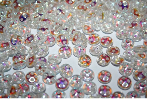 QuadraLentil Beads Crystal AB 6mm - 5gr
