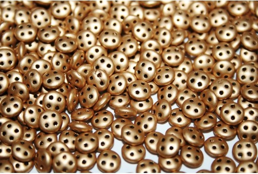 QuadraLentil Beads Matte Metallic Flax 6mm - 5gr