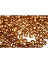 QuadraLentil Beads Matte Metallic Antique Gold 6mm - 5gr