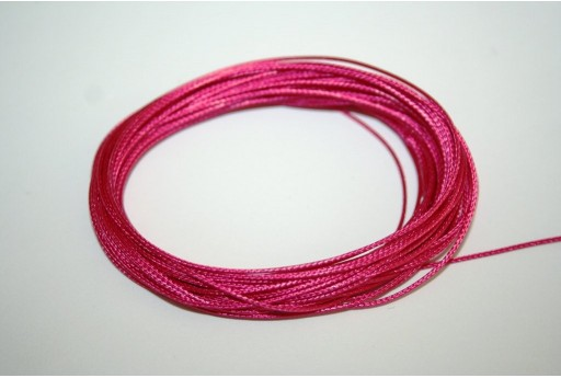 Fuchsia Waxed Polyester Cord 0,5mm - 12mt