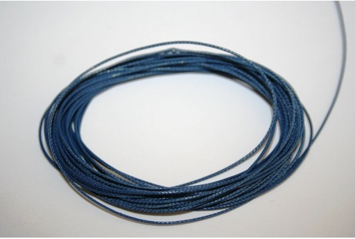 Blue Navy Waxed Polyester Cord 0,5mm - 12mt