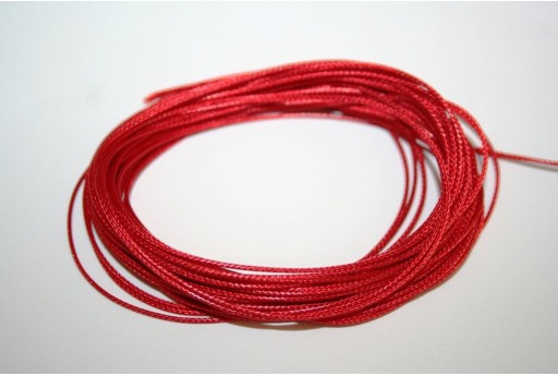 Red Waxed Polyester Cord 0,5mm - 12mt