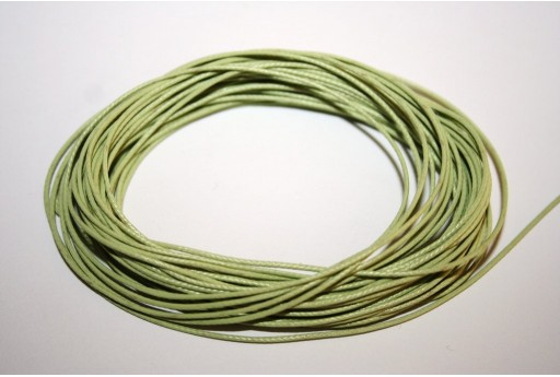 Light Green Waxed Polyester Cord 0,5mm - 12mt