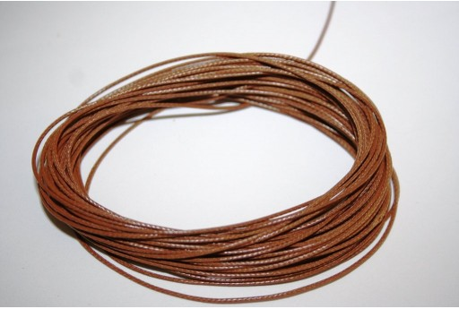 Light Brown Waxed Polyester Cord 0,5mm - 12mt