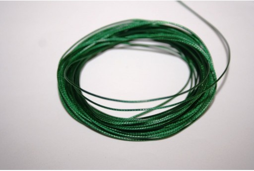 Green Waxed Polyester Cord 0,5mm - 12mt