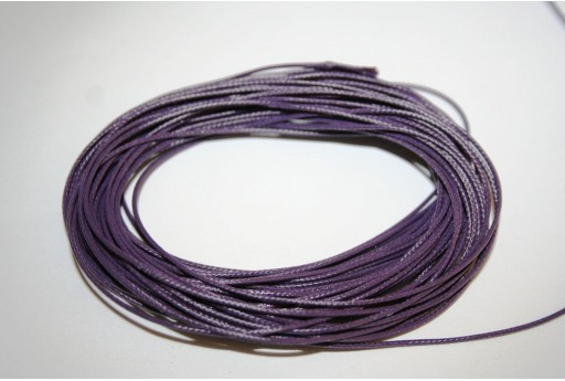 Dark Purple Waxed Polyester Cord 0,5mm - 12mt