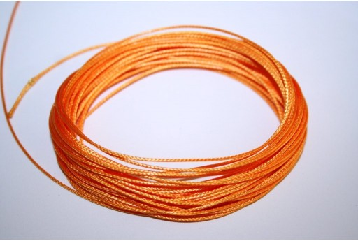 Light Orange Waxed Polyester Cord 0,5mm - 12mt