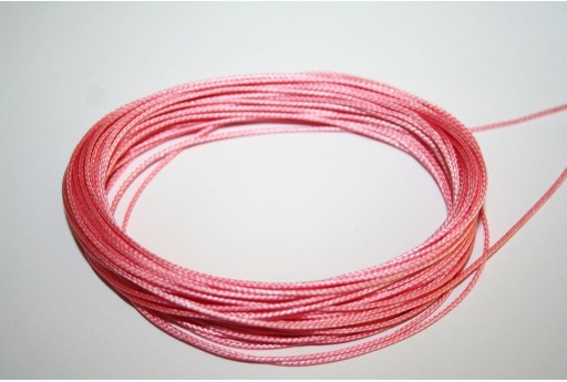 Pink Waxed Polyester Cord 0,5mm - 12mt