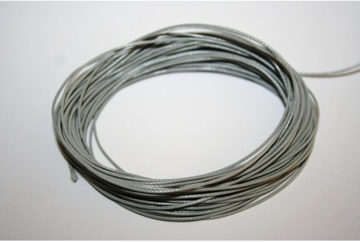 Light Grey Waxed Polyester Cord 0,5mm - 12mt