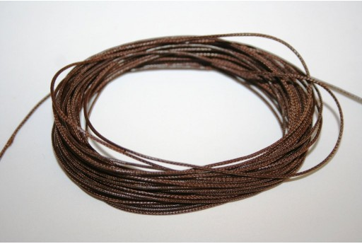 Brown Waxed Polyester Cord 0,5mm - 12mt