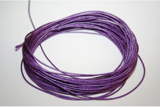 Purple Waxed Polyester Cord 0,5mm - 12mt