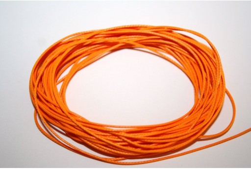 Orange Waxed Polyester Cord 0,5mm - 12mt