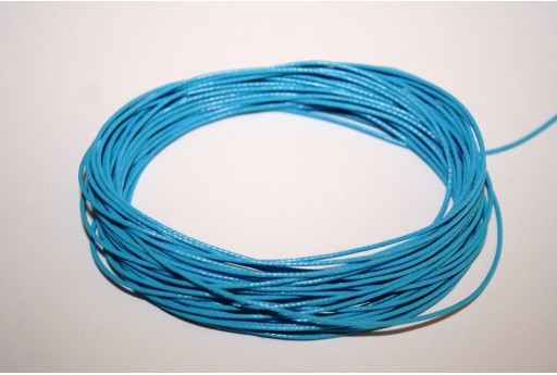 Ligh Blue Waxed Polyester Cord 0,5mm - 12mt