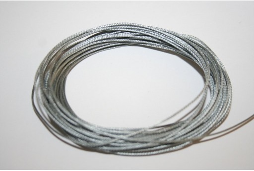 Silver Waxed Polyester Cord 0,5mm - 12mt