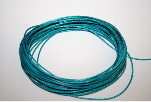 Teal Green Waxed Polyester Cord 0,5mm - 12mt