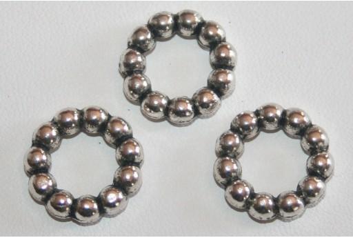 Antique Silver Tibetan Ring Connectors 16mm - 3pcs