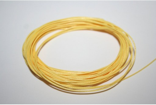 Yellow Waxed Polyester Cord 0,5mm - 12mt