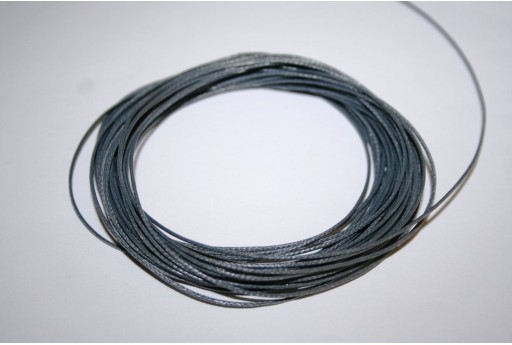 Grey Waxed Polyester Cord 0,5mm - 12mt