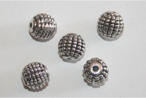Palline Argento Tibetano 9mm - 7pz