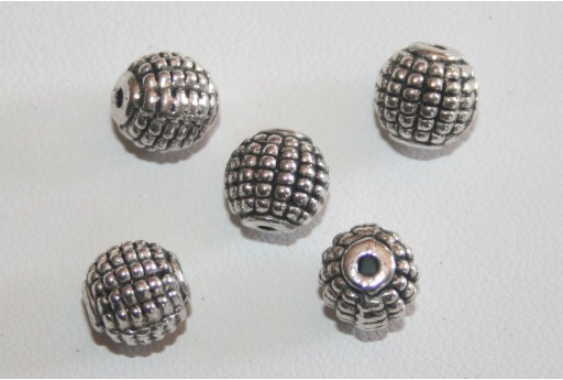 5 Palline Argento Tibetano 9mm TIB15