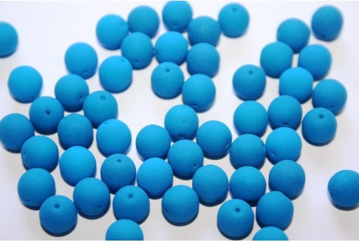 Neon Glass Beads Blue 8mm - 30pz