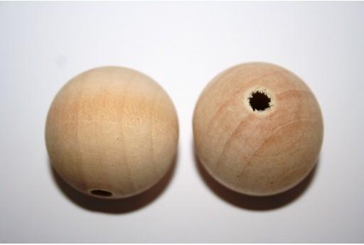 Perline Legno da Rivestire Tondo 30mm - 5pz