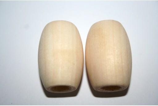 Perline Legno da Rivestire Oliva 30x19mm - 8pz